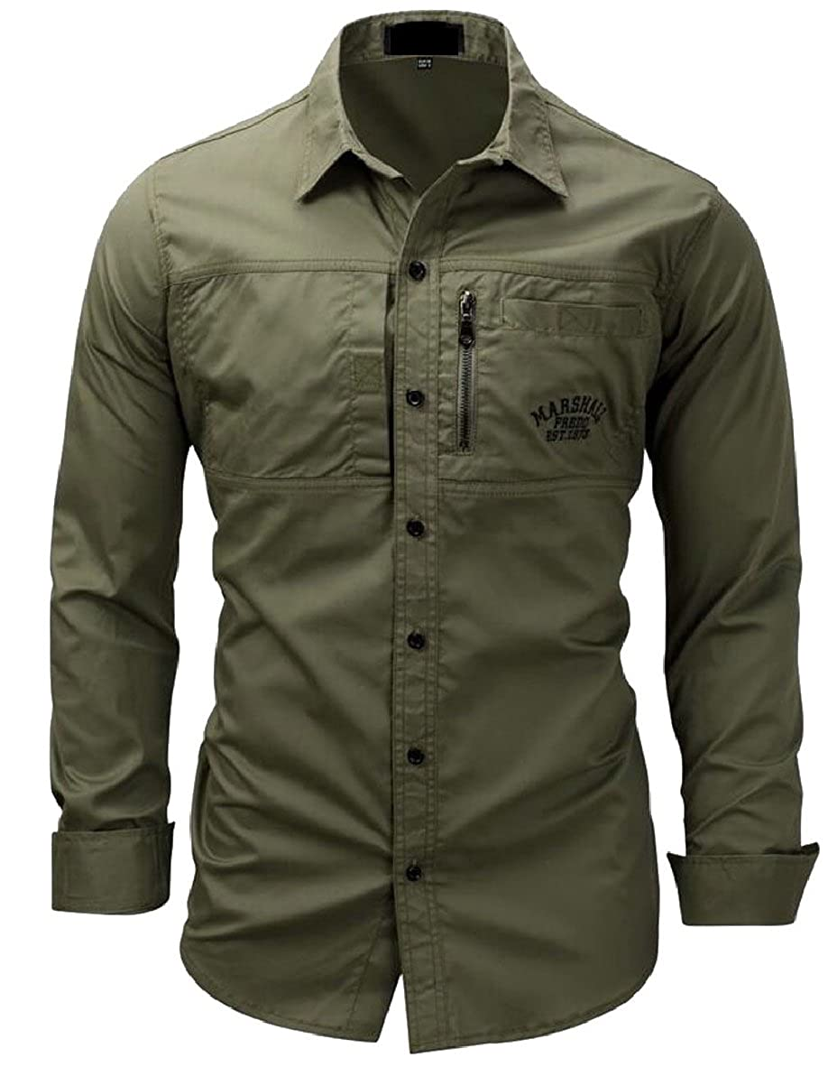 CBTLVSN Mens Short Sleeve Shirts Casual Military Style Cargo Tactical Work Shirt