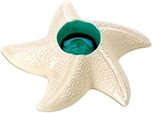Nautical Off White Star Fish Tea Light Candle Holder