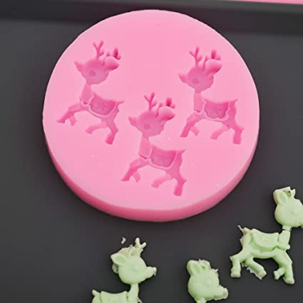 Kitchen,dining & Bar Fawn Deer Animal Shape 3d Diy Silicone Cake Mold Tools Soap Fondant Chocolate Mould Decorating Kitchen Baking Clay Mold