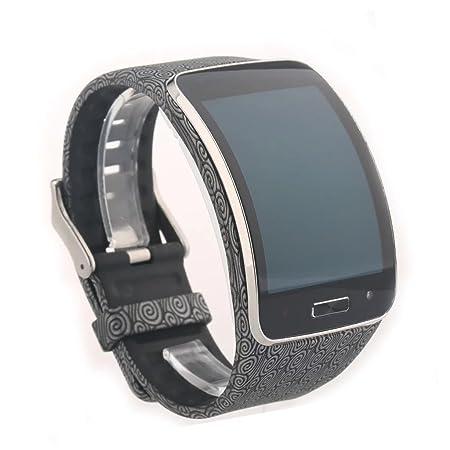 VAN-LUCKY Opcional Correa de Reloj para Samsung Galaxy Gear S Pulsera R750 SmartWatch Bandas de reemplazo de Muñequera(Sólo la Correa de Reloj)