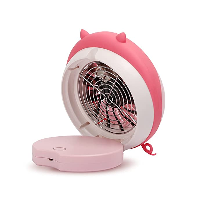 Amazon.com: Portable Personal Desktop Water Spray Fan Humidifier Rechargeable USB Powered Cooling Misting Fan (Pink Pig): Kitchen & Dining
