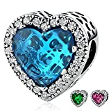 Best Pandora Friend Heart Charms - Ronglai Jewelry Sterling Silver Love Heart Bead Charms Review