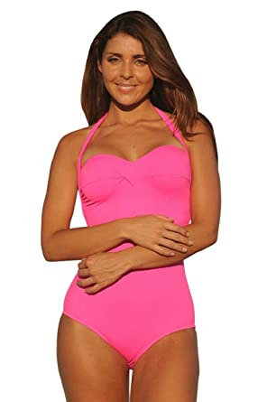 768c68fa04 UjENA Hot Pink Neon Monroe Long Torso 1-PC Swimsuit at Amazon ...