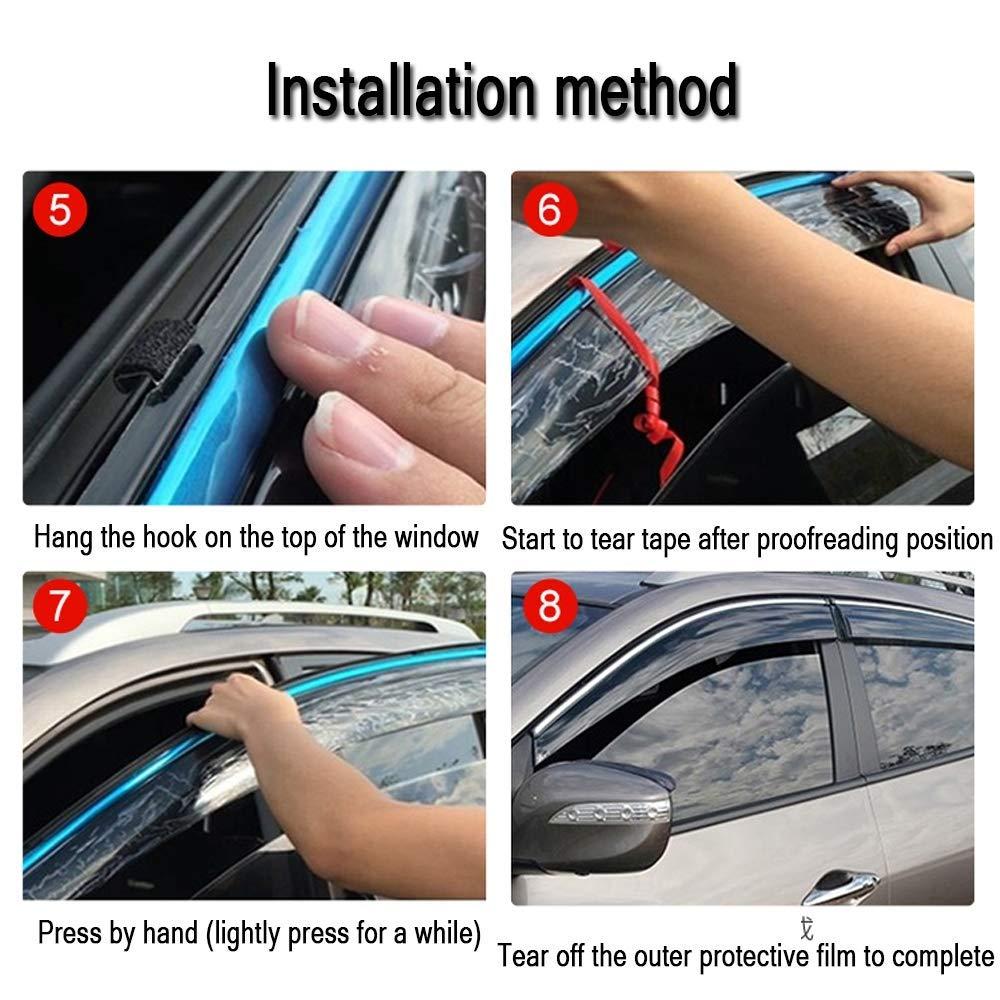 4 pezzi Color : 2016models Auto del vento deflettori Set protezione contro le esplosioni V W Sharan Accessori 2016models Mirage