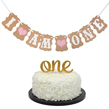 Baby First Birthday Cake Topper Decoration QuotOnequot