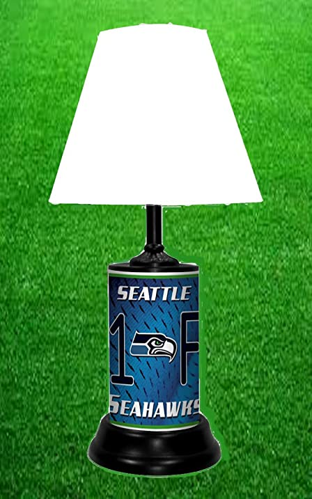 Amazon seattle seahawks table lamp home kitchen seattle seahawks table lamp mozeypictures Choice Image