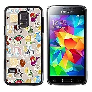 // PHONE CASE GIFT // Duro Estuche protector PC Cáscara Plástico Carcasa Funda Hard Protective Case for Samsung Galaxy S5 Mini, SM-G800 / COOL CUTE PATTERN /