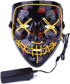 AimdonR Máscara de Halloween, Máscara de purga de luz LED ...