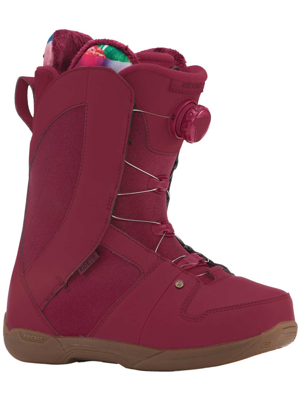 Ride Sage Boa Coiler Womens Snowboard Boots 2018 - 9.0/Maroon by Ride