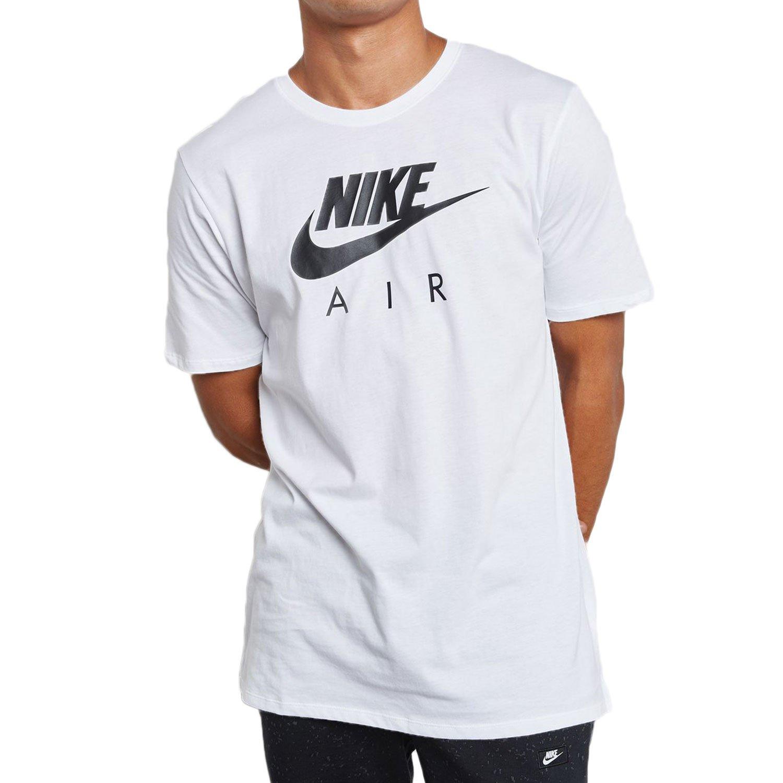 154c43dc Nike Air Max Sportswear Men's Shortsleeve T-Shirt White/Black 856451-100  (Size S) at Amazon Men's Clothing store: