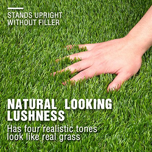 Forest Grass 24in x 20in Artificial Synthetic Thick Lawn Turf Carpet Fake Grass for Dogs Perfect for Indoor/Outdoor Landscape, 20inch x 24inch, Green