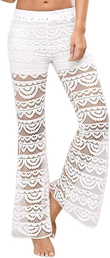 Damas Color Sólido Elegante Pantalones Harem Faru Lace Pantalón De ...