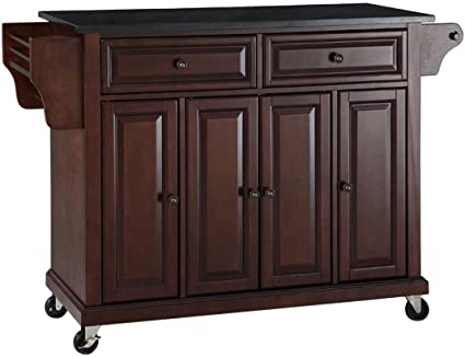 Amazon.com - Crosley Furniture Rolling Kitchen Island with Solid ...