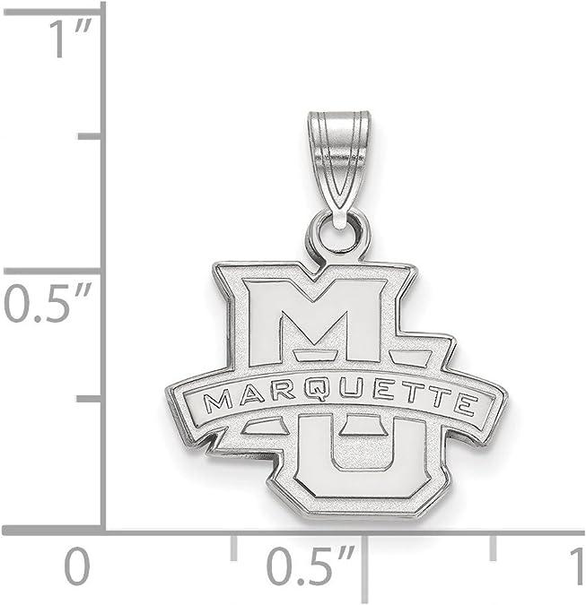 925 Sterling Silver Rhodium-plated Laser-cut University of Oklahoma Large Enameled Pendant