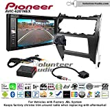 Pioneeer AVIC-6201NEX Double Din Radio Install Kit with GPS Navigation Apple CarPlay Android Auto Fits 2012-2013 Toyota Camry with Amplified System