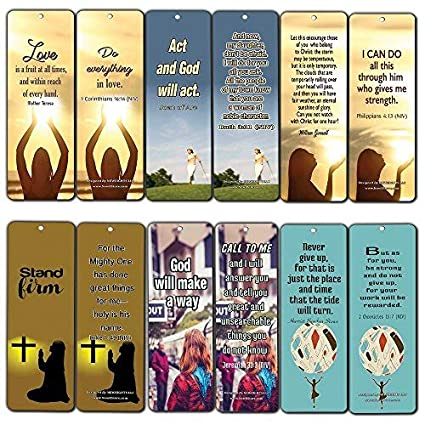 Christian Bookmarks Cards for Women (60-Pack Series 2) - Inspirational  Encouraging Quotes - Stocking Stuffers for Women Ministry Mom Daughters