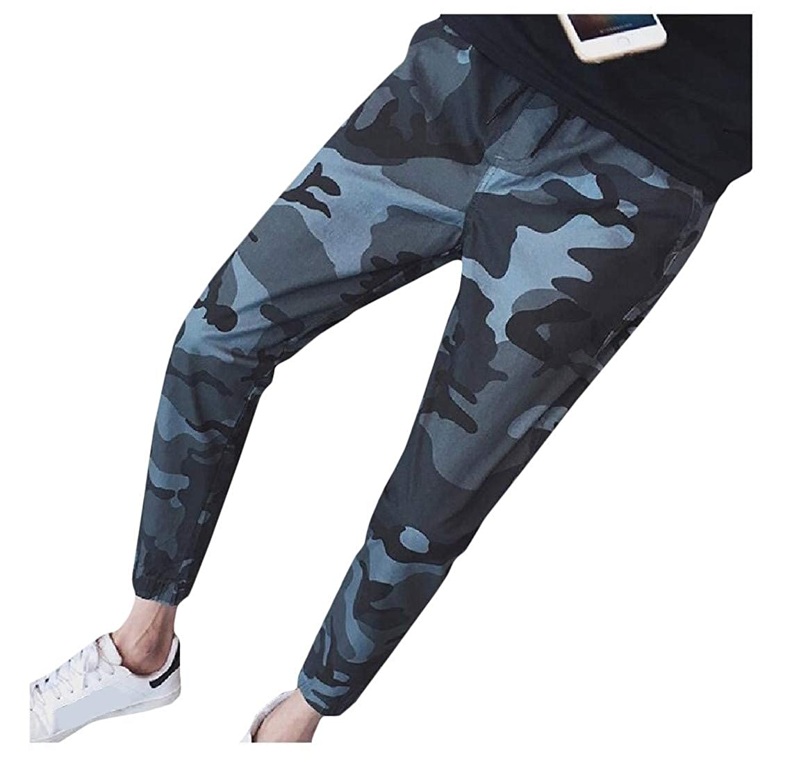 Cromoncent Mens Casual Trousers Jogging Camouflage Sports Pants