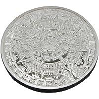 Collection de souvenirs commémoratifs de monnaie commémorative de calendrier maya aztèque