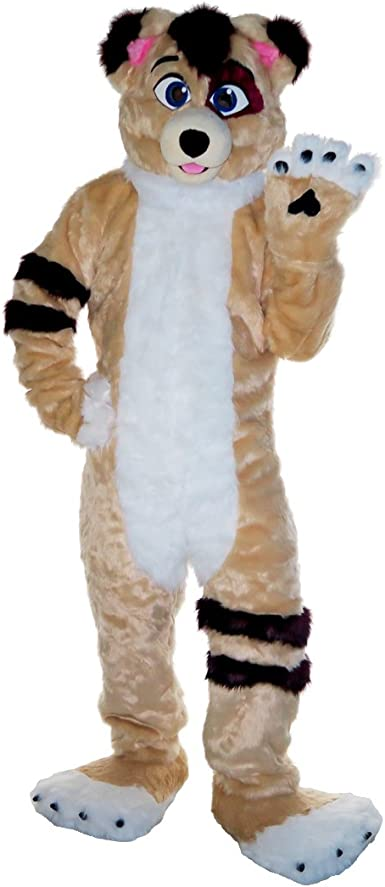 Halloween Female Fox Dog Fursuit Mascot Costume Furry Cosplay Fancy Dress Outfit
