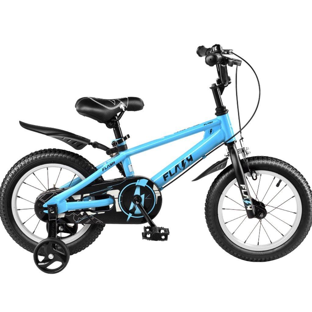 DGF 子供用自転車12141618インチ男性と女性のベビーカー3-12歳の子供の自転車 (色 : 青, サイズ さいず : 14 inches) B07F1KFPW4 14 inches|青 青 14 inches