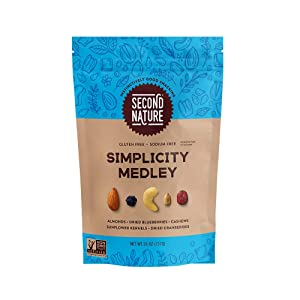 Second Nature Simplicity Medley Trail Mix - Healthy Nuts Snacks Blend - 26 oz Resealable Pouch