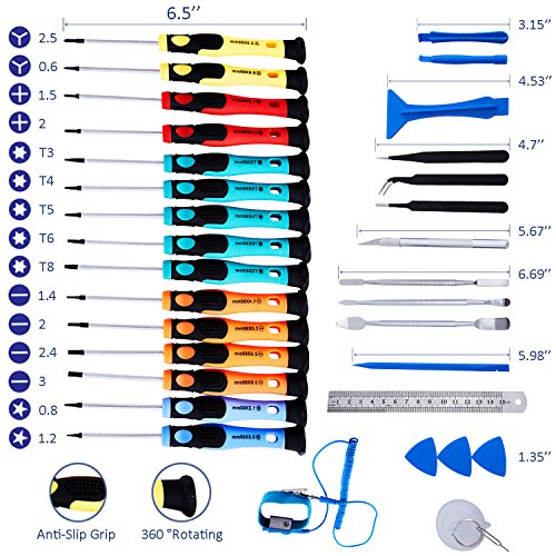 Repair Tools Kit, Precision Screwdriver Set,Electronic Devices Pry Open DIY Tool Kits Phones/Computers/PC/Tablets/Pads/iPad Pro/Watch by KALAIDUN (Image #1)