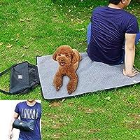 Coofone Pet Dog Bed Portable Outdoor/Indoor Waterproof Snuggle Comfort Blanket Reversible Design Pet Dog Travel Blanket Sleeping Mat In 2 Colors (Black)