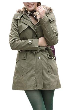 2af30f3db91 Femme Blouson Automne Hiver Velours Épais Veste A Capuche Confortable  Branché Fashion Style de fête Warm