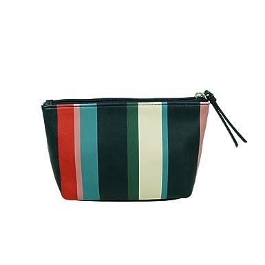 best price get online latest discount ESPRIT Willow zip pouch Blau streifen Damen Kosmetiktasche ...