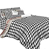 Best Dolce Mela Elegant Bedding King Size Beds - Dolce Mela DM498K 6-Piece Check Bedding Duvet Cover Review