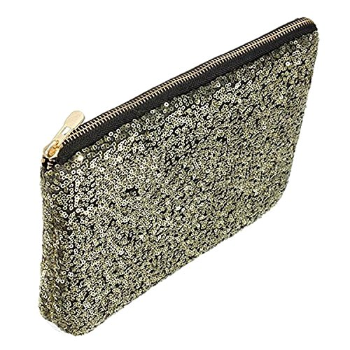 Bag Golden Evening Glitter Handbag Dazzling Party Sequins Sparkling Clutch Bling Bluelans vaAOxzqg