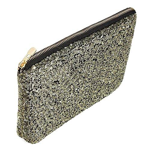 Bling Handbag golden Bag Clutch Evening Glitter Sparkling Sequins Party Dazzling qxnZ1vwEI