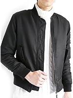 (モノマート) MONO-MART MA-1 ジャケット エムエーワン 中綿 暖かい フルジップ ノーカラー 流行 ミリタリー 長袖 カジュアル こなれ感 MODE メンズ