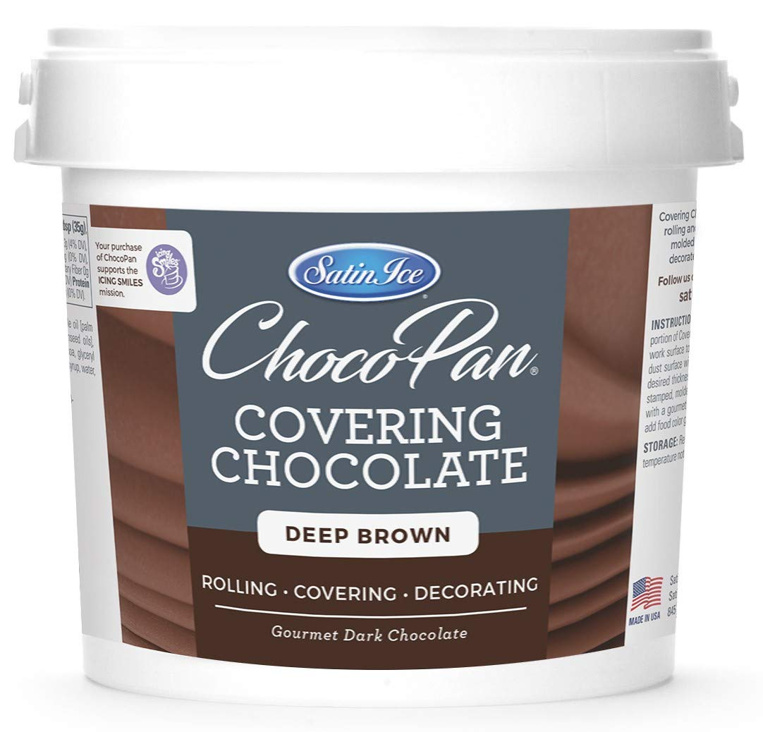 Satin Ice ChocoPan Deep Brown Covering Chocolate, 10 Pounds