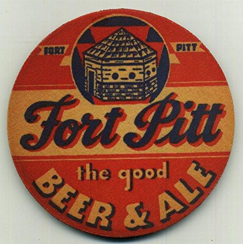 Fort Pitt Beer Coaster Set of 4 - Vintage Beer and Ale . Est. (Fort Pitt Beer)