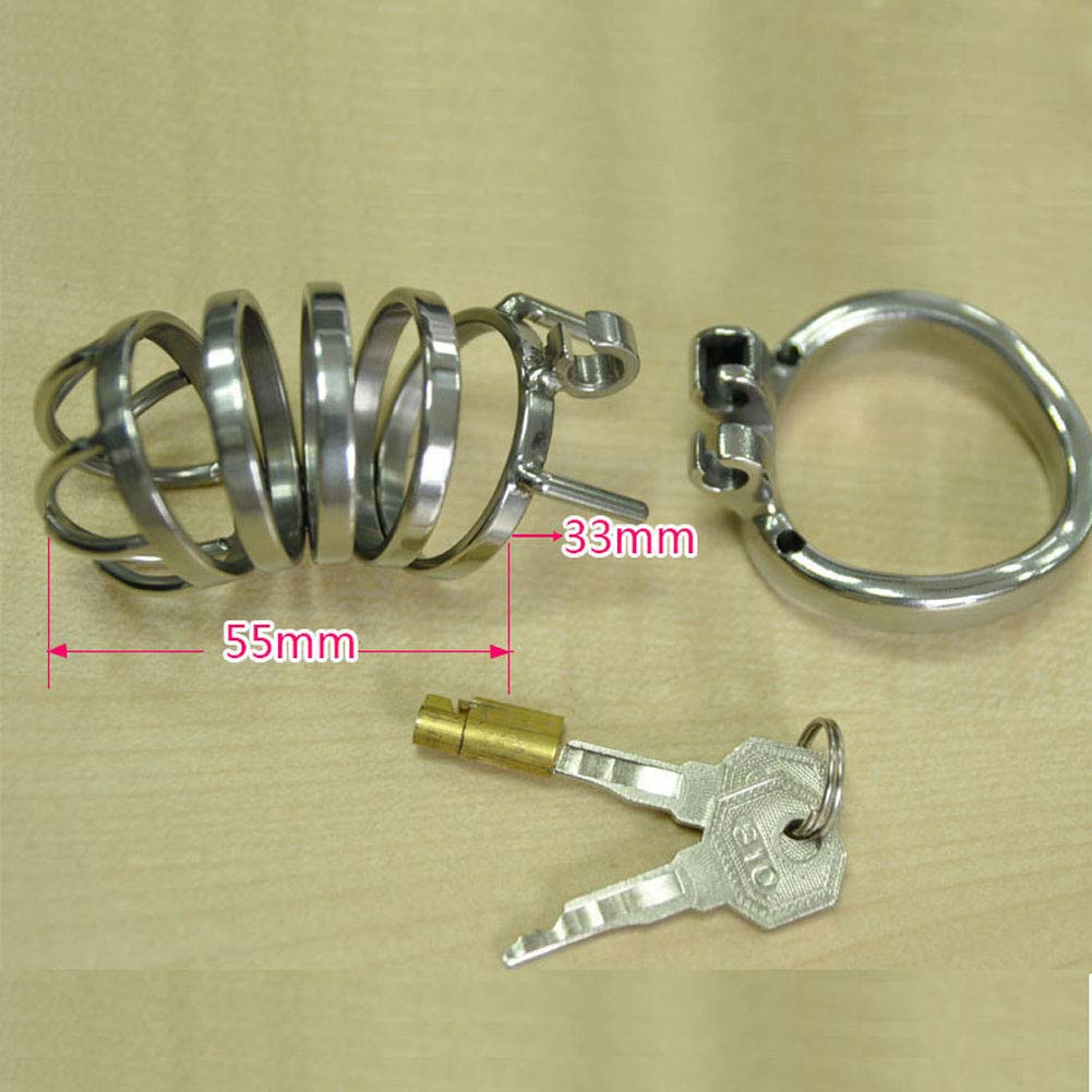 Jaulas de pene Cock Restraint Cage Penis Lock Restraint Cock Bondage Fetish Silicone Catheter (Tamaño : 45mm) 70a0e8