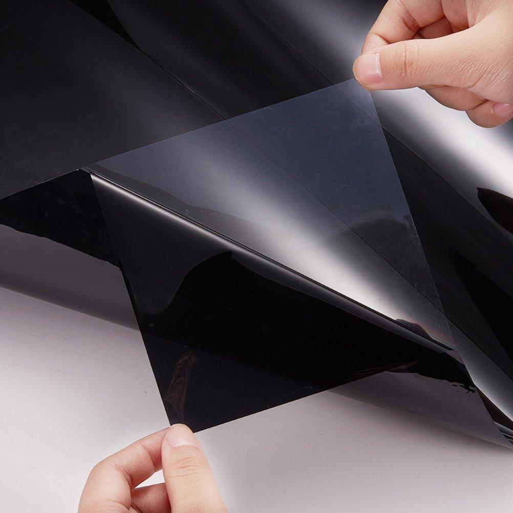 Película de vinilo tintado para cristal de coche, de la marca Winomo, 0,5 cm x 3 m, para privacidad y reducción de calor, color negro: Amazon.es: Bricolaje ...