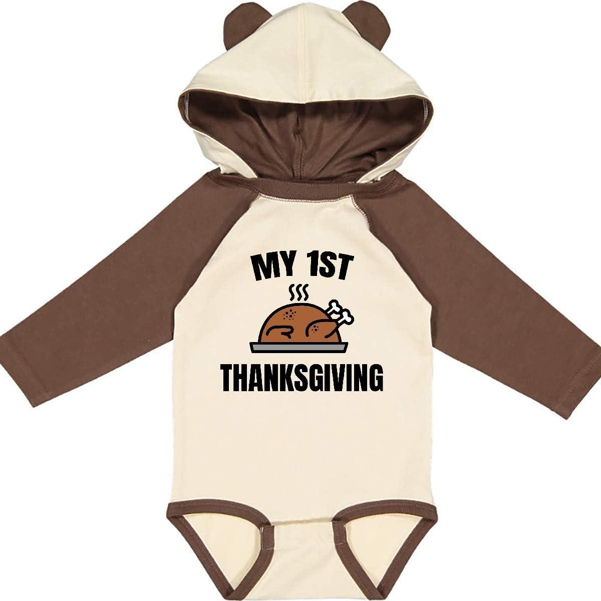inktastic My 1st Thanksgiving Long Sleeve Creeper