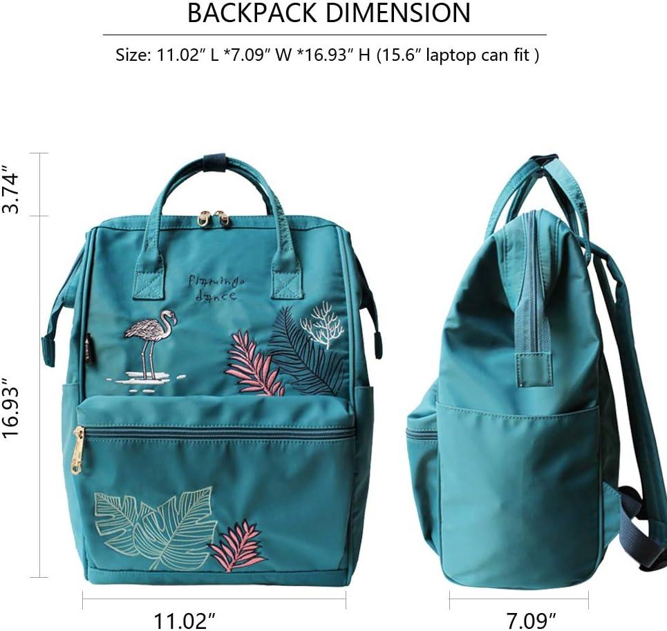 15.6inch Laptop Backpack for Women School College Backpacks Womens Nylon Water Resistant Travel Daypack Sky Blue