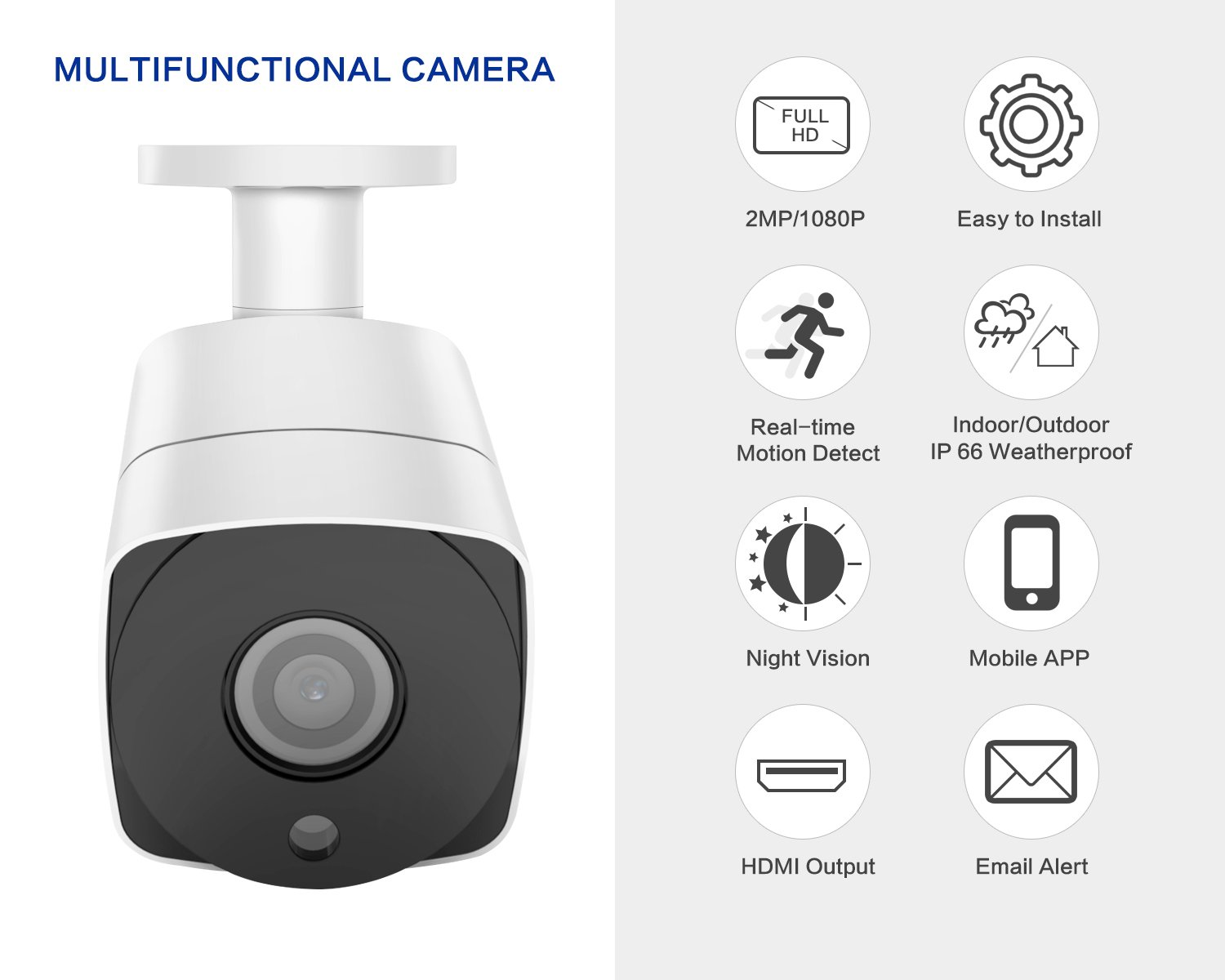 Full Hd Security Camera System 1080psmonet 4 Channel Home 2channel Remote View Mobile Dvr With Shock Sensor And Wifi System1tb Hard Drive4pcs 2mp Outdoor Camerassuper Night Visionp2peasy Viewfree Appno Monthly Fee Electronics