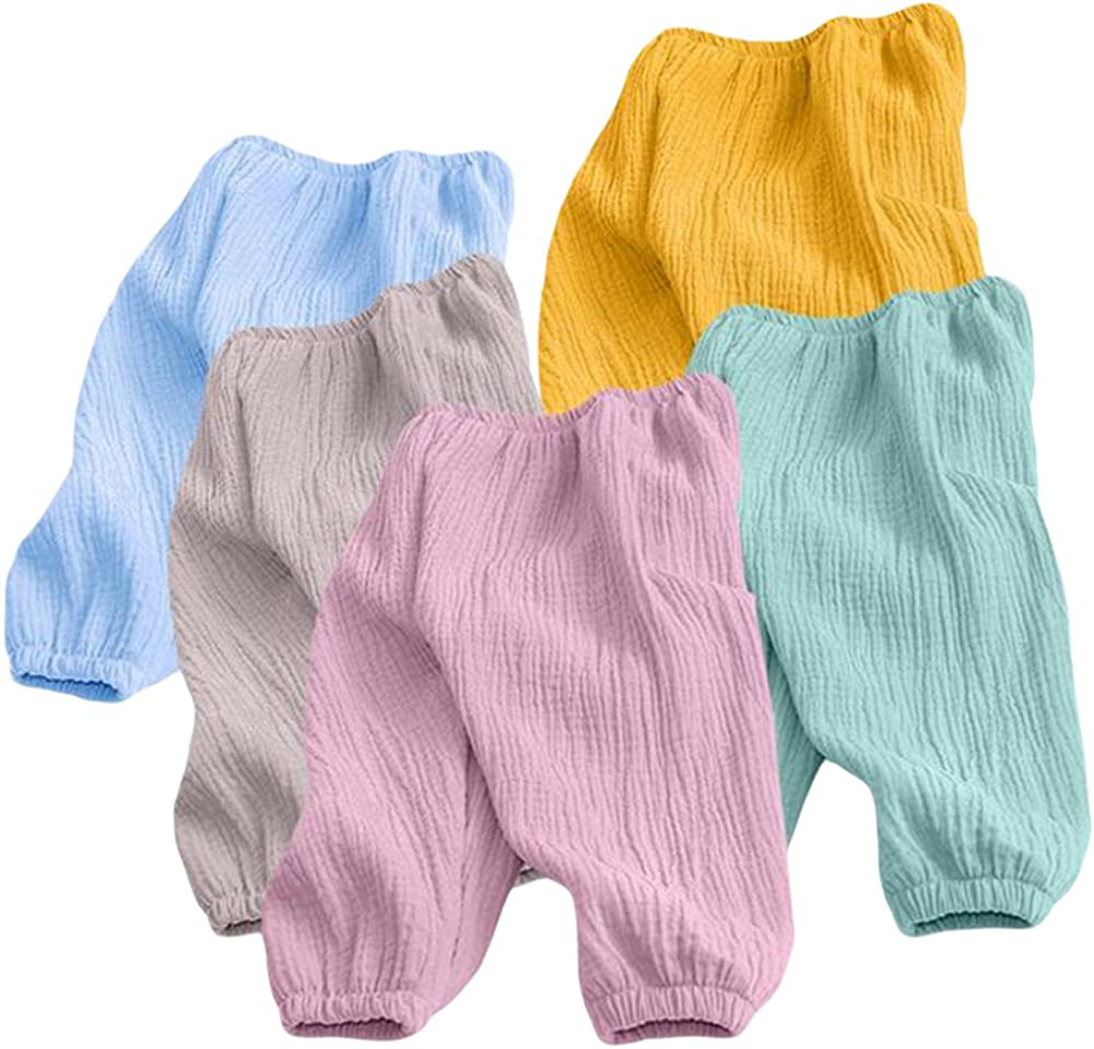 TAIYCYXGAN Unisex Baby Toddler Girls Boys Casual Pants Kids Soft Elastic Harem Pants Summer Solid Color Bloomers