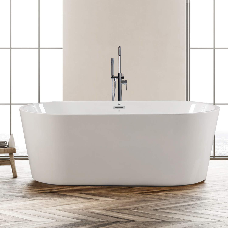 4.Ferdy 67″ Acrylic Stand Alone Bathtub