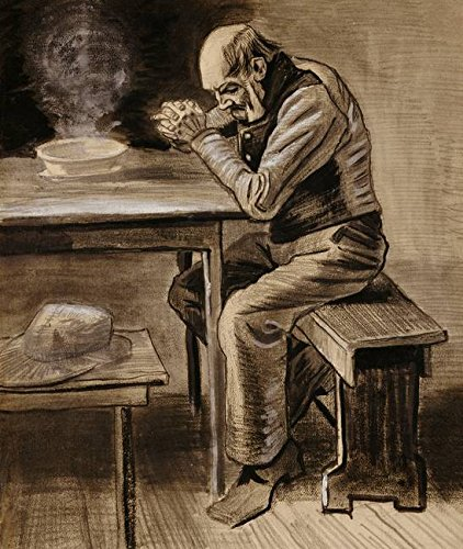 Wall Art Print entitled The Prayer, 1882 (Pencil, Charcoal