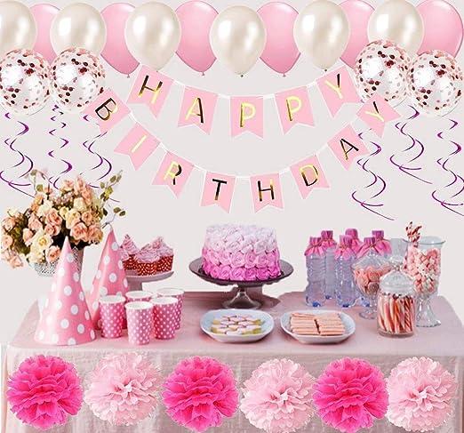 globos Rosa y blancos 100 unidades 12 pulgadas globos Rosa ...