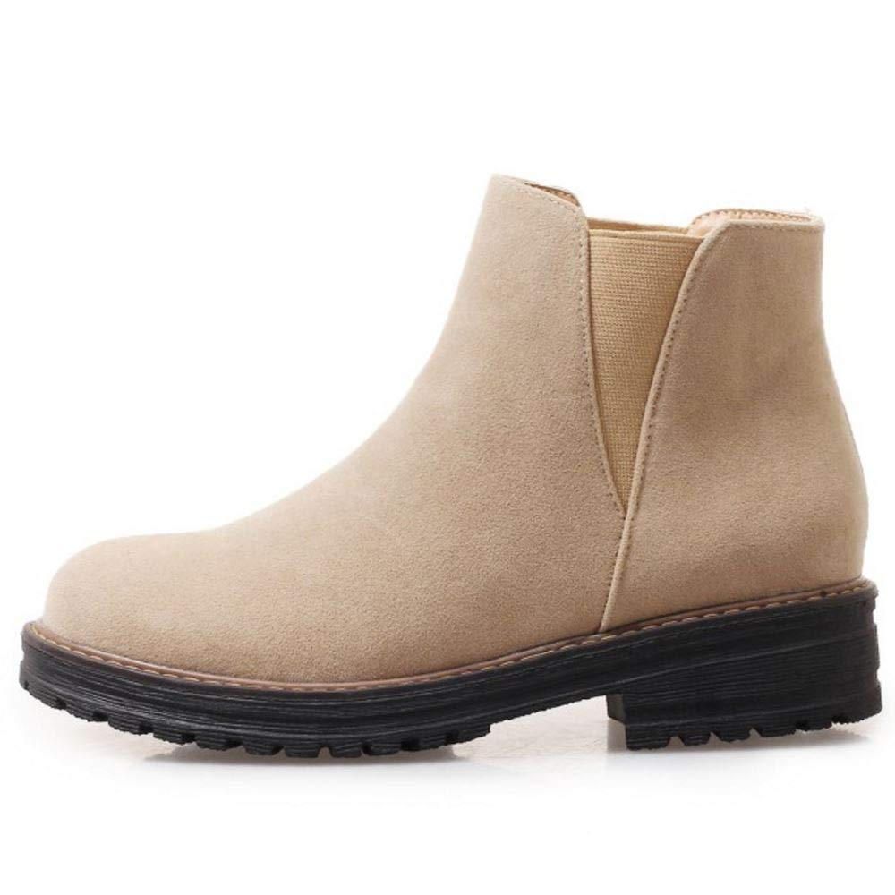 Melady Fashion Flat Chelsea Ankle Boots Pull On