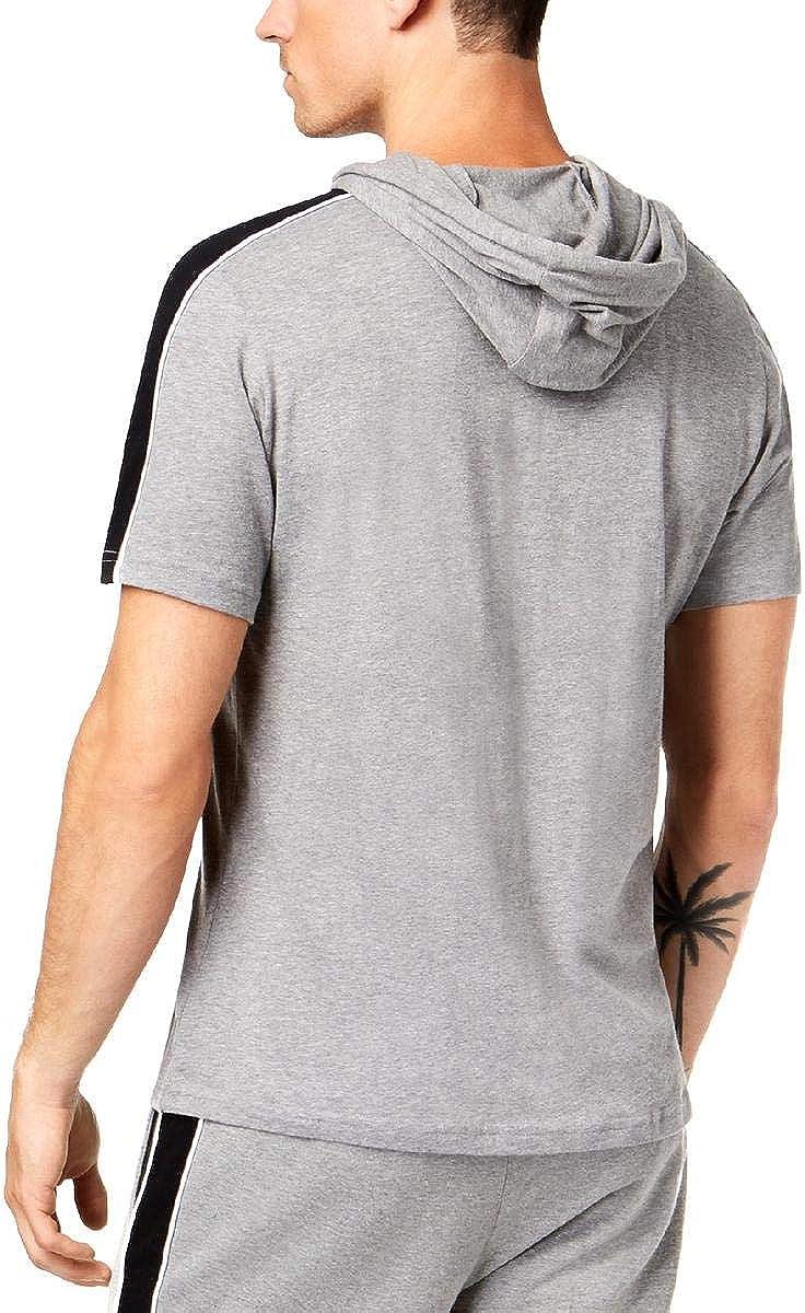 I-N-C Mens Striped Hoodie Sweatshirt