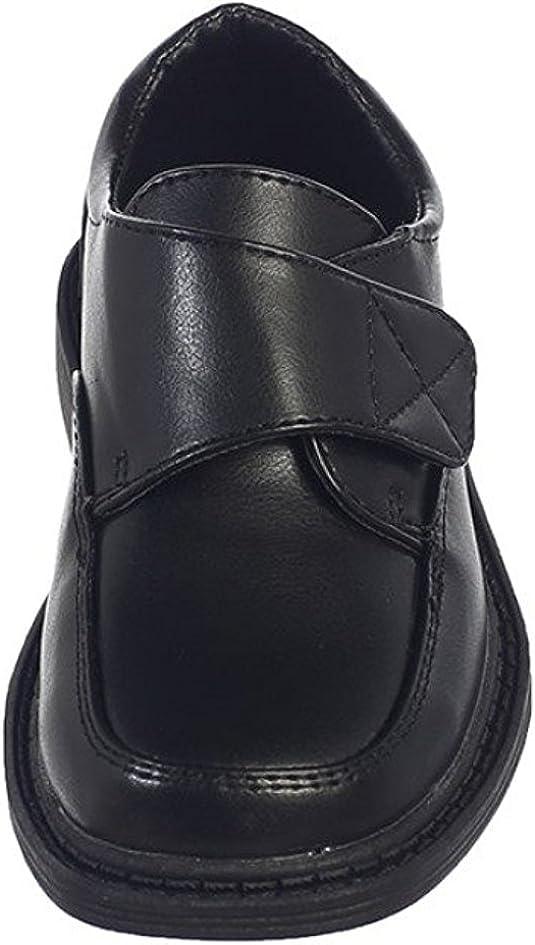 Lito Boys Matte Dress Shoes w//Velcro Strap