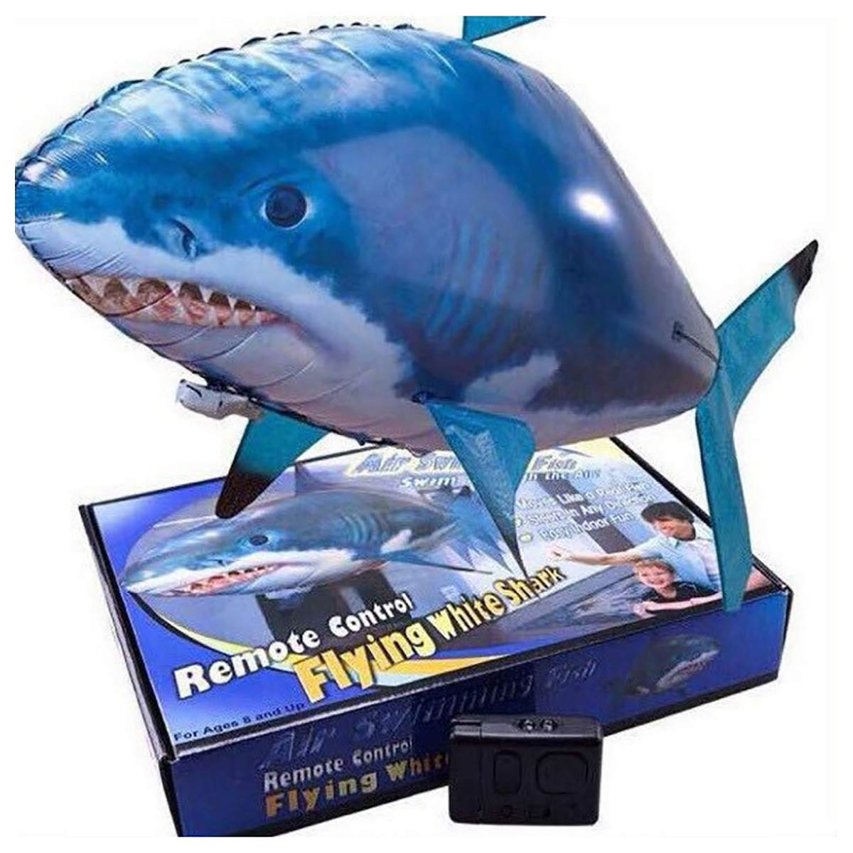 Ferngesteuerter Riesenfisch Fliegender Hai Clownfisch,Weihnachtsgeschenk f/ür Kinder RC Air Swimmer Flying Shark Ferngesteuerter Fliegender Hai-Fisch A
