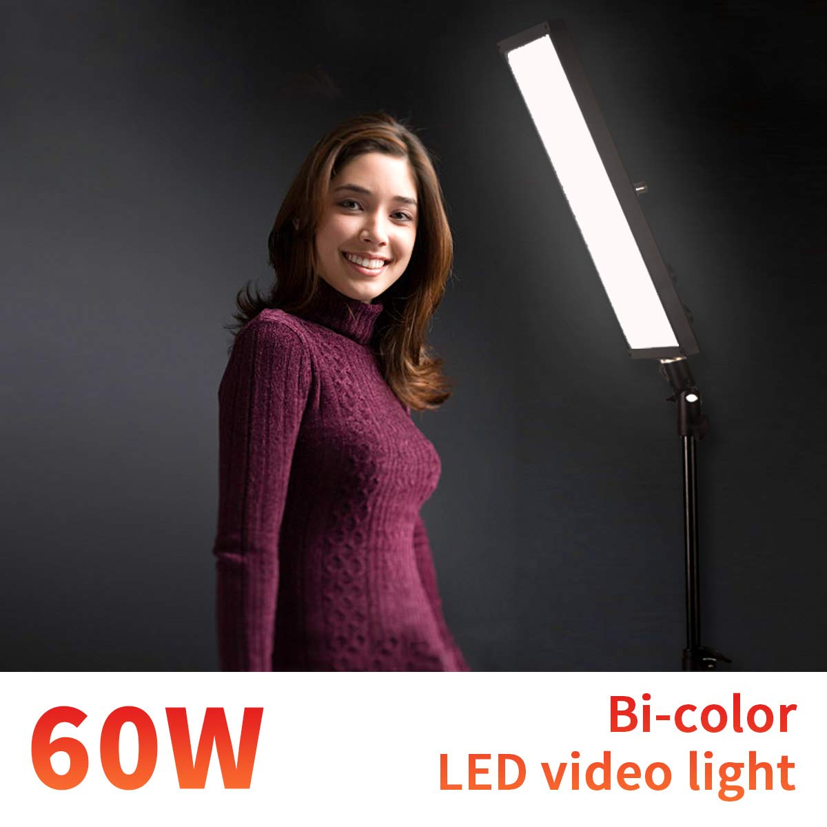 GSKAIWEN Photography Studio LED Lighting Adjustable Light Photographic Video Fill Light Makeup Lighting Professional(Single Light)