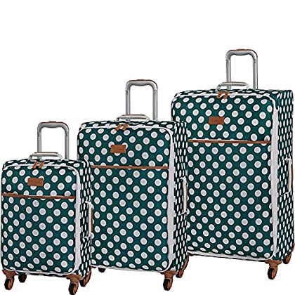 Image of it luggage Summer Spots 3 Piece Lightweight Expandable Spinner Luggage Set Luggage